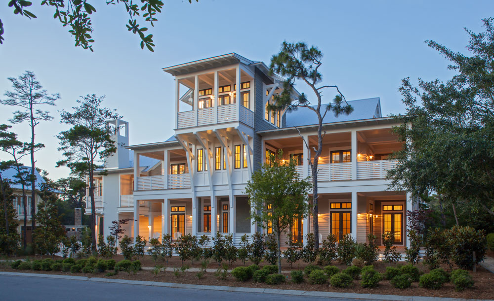 Gulf coast home with balconies