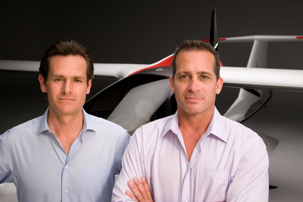 (Left) With an MS in Product Design from Stanford and an AB in Economics from harvard, ICON Aircraft cofounder Steen Strand is particulary well suited for the position of COO. (Right) ICON Aircraft founder and CEO Kirk Hawkins, a former USAF F-16 pilot, holds a BS degree in Mechanical Engineering from Clemson University.