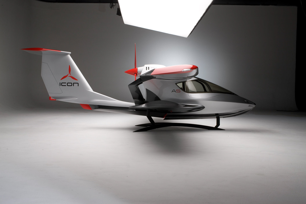 At approximately $189,000, the LSA two-seater ICON A5 is chock-full of cutting-edge features not commonly found in larger, more expensive private aircraft, making it perfect for both the novice pilot and experienced flying enthusiast.