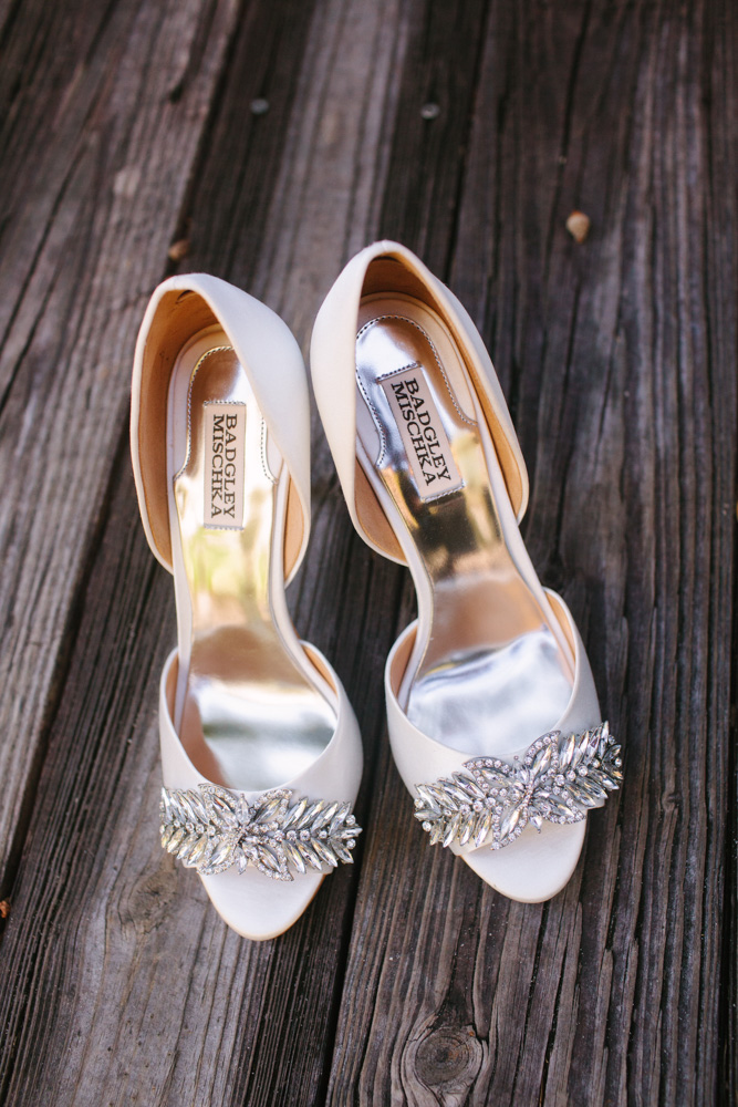 Bride, Jennifer Goffs wedding shoes