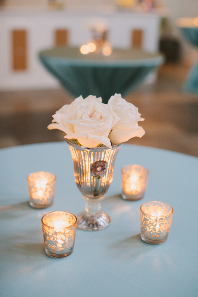 Jennifer and Jimmy Goff wedding table candle center pieces