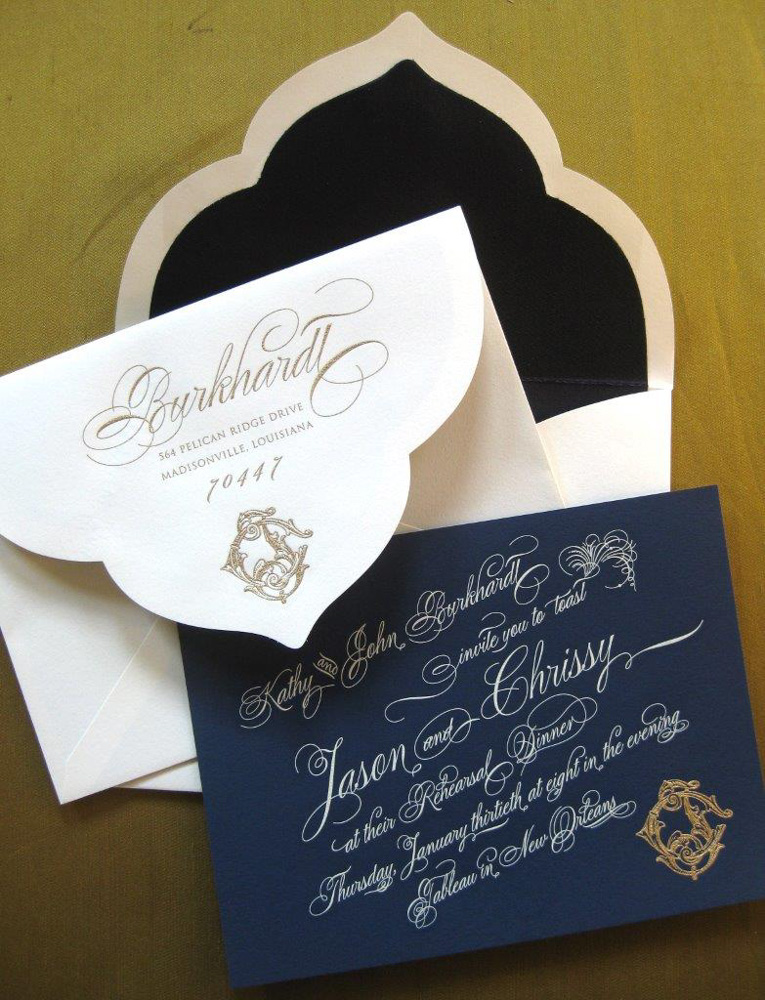 Alexa Pulitzer custom wedding invitations