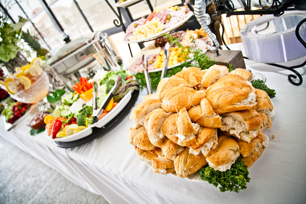 Assortment of sandwiches for reception