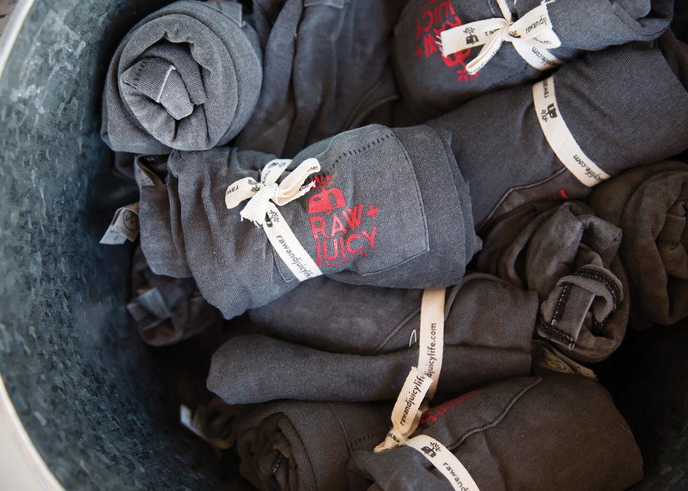 T-shirts in a basket