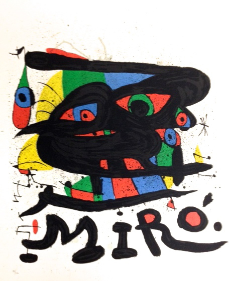 Vie Magazine Sculptures, Joan Miró Lithograph in color