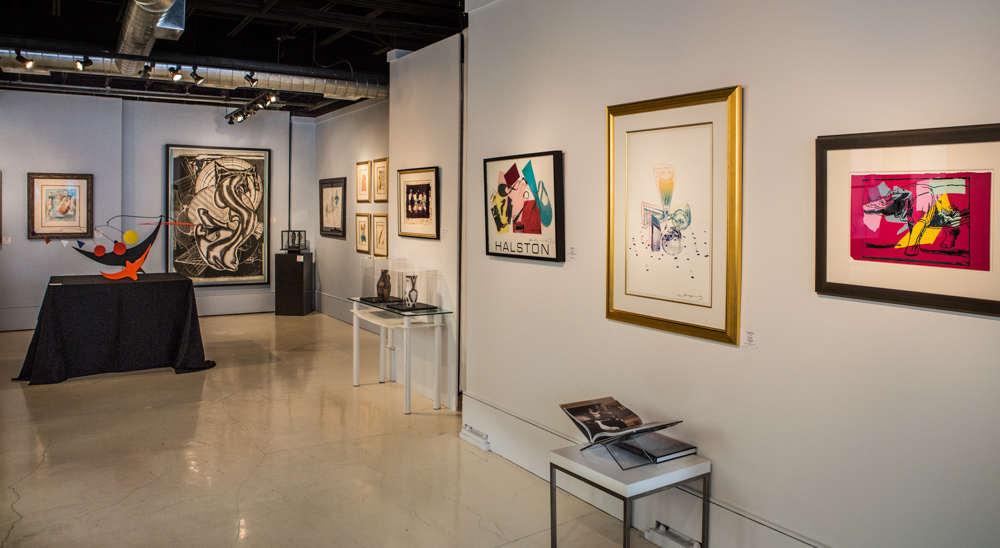Gallery with famous artwork