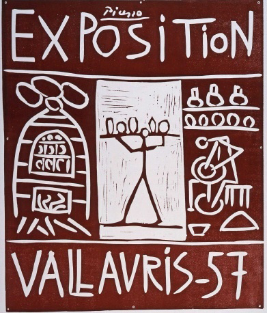 Vie Magazine Exposition Vallauris, Pablo Picasso – Linocut in colors (1957)