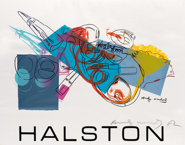 Vie Magazine Halston Advertising Campaign Fragrance and Cosmetics, Andy Warhol Color screenprint 1982