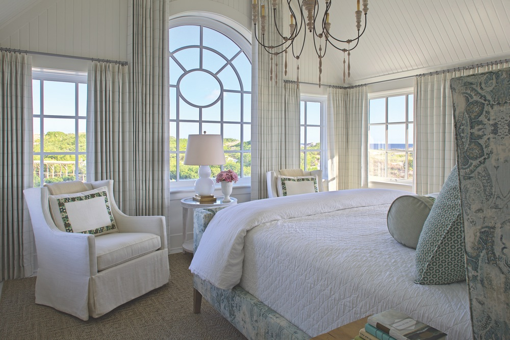 Bedroom of Legacy Home designed by New York Architect John Kirk, residing in WaterSound Beach, Florida VIE Magazine