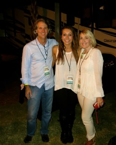 Abigail Rose (middle) with Gerald and Lisa Burwell