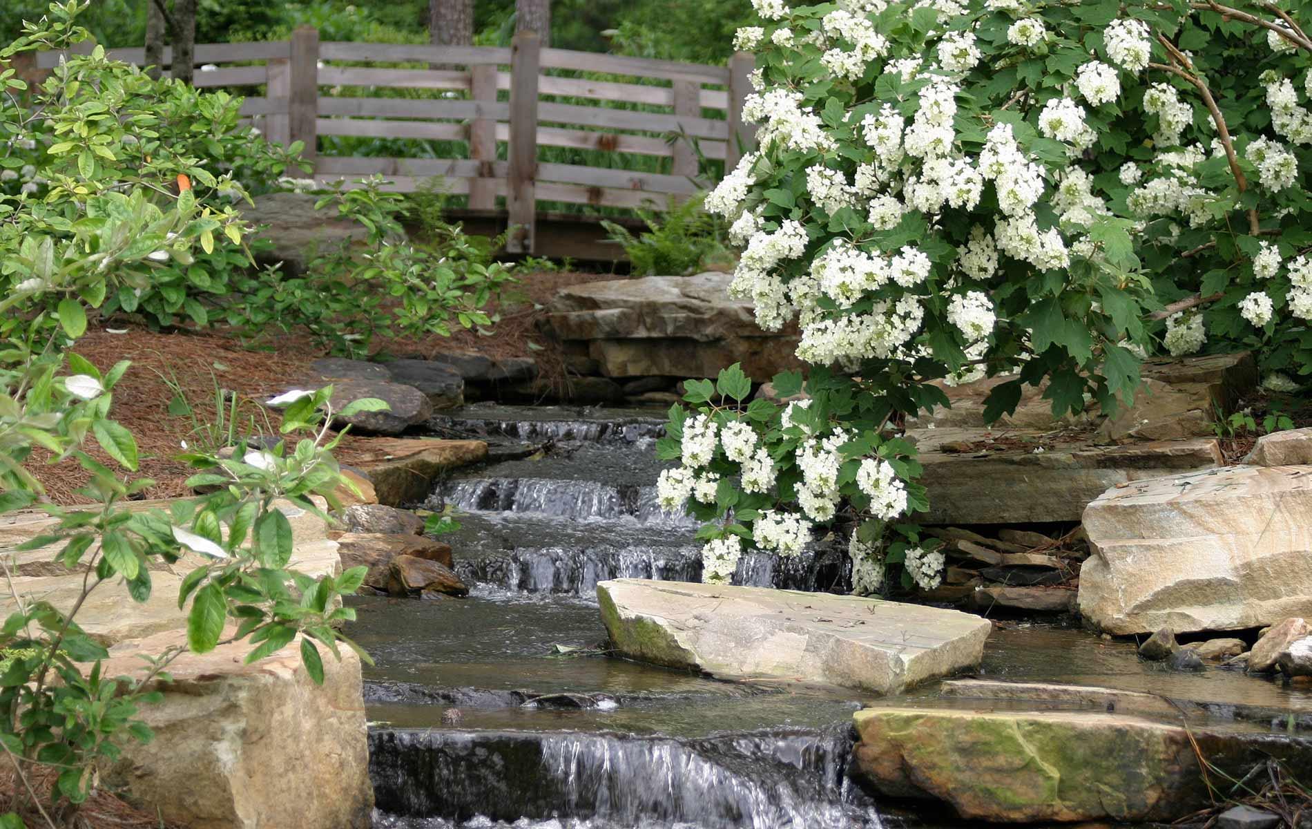 Garden with brook
