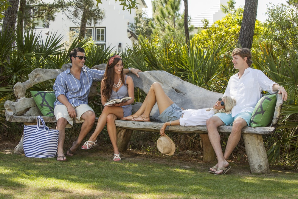 Lounging during those long, lazy days of summer in Alys Beach's Central Park
