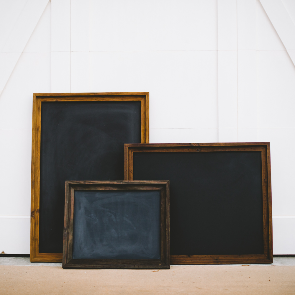 Chalkboards being framed