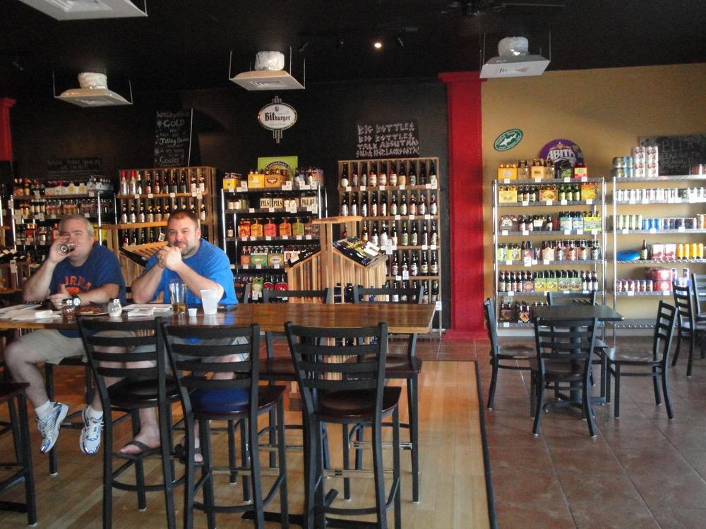 The laid-back tasting room at Hopjacks Filling Station