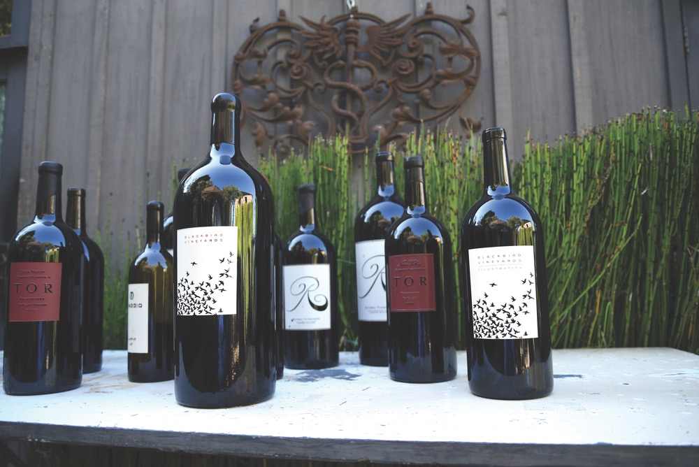 Bottles of wine for wine tasting in Napa Valley