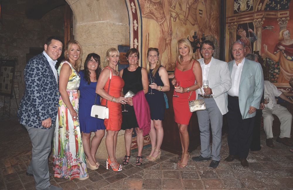 Group in banquet hall of Castello di Amorosa