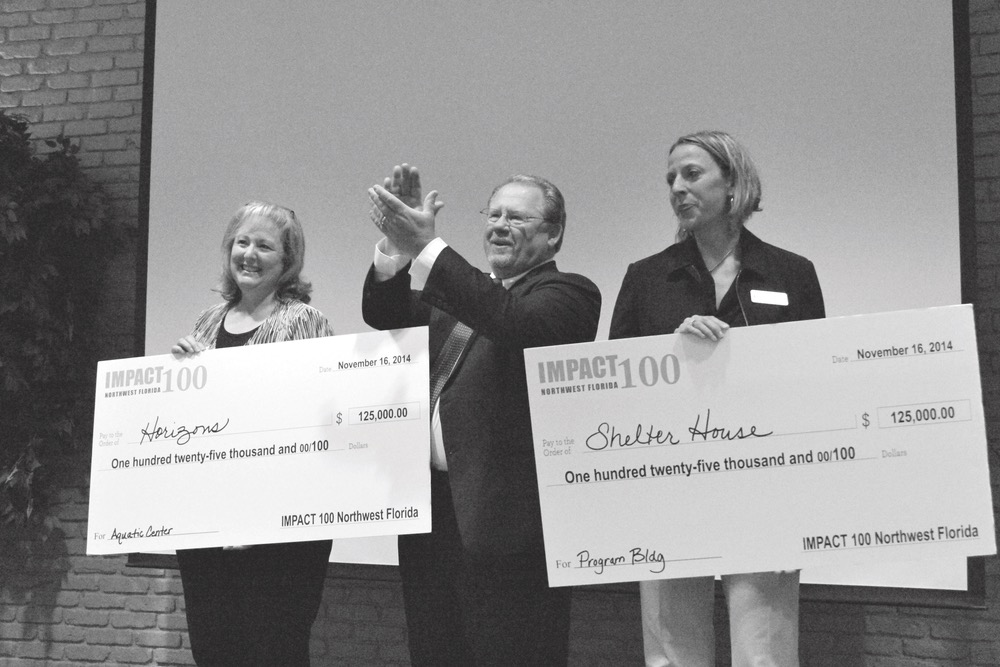 Horizons and Shelter House were each awarded grants