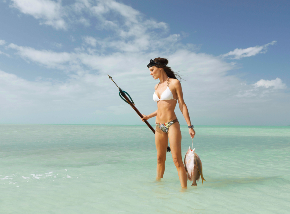 Little Palm Island Girl Fishing