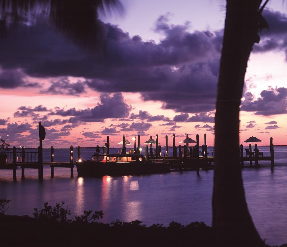 Little Palm Island sunset view dock