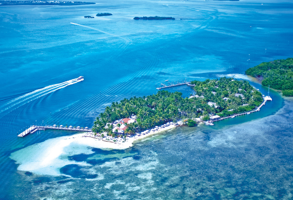 Little Palm Island aerial view
