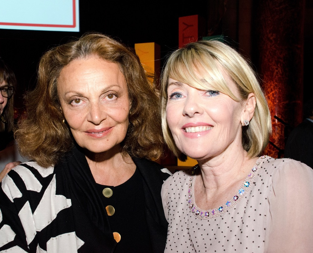 Diane von Furstenberg with VIE publisher Lisa Burwell at Ms. Foundation's Gloria Awards