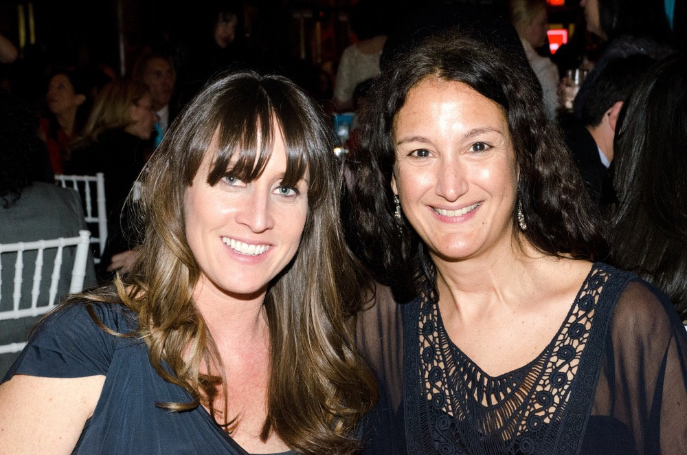VIE special assignment writer Anne Hunter with interior designer Sara Bengur attend the Ms. Foundation's Gloria Awards