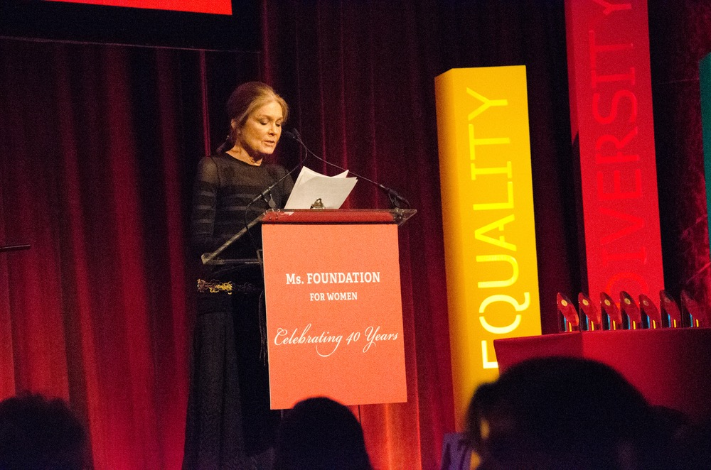 Gloria Steinem tells of the struggle for rights from humble beginnings at the Ms. Foundation's Gloria Awards