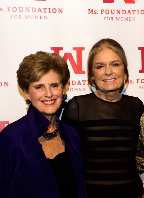 Ms. Foundation's honorary founding mother Marie C. Wilson and founding mother Gloria Steinem