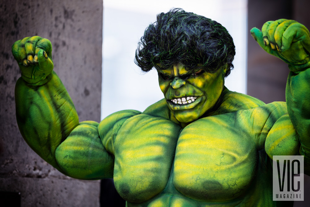 Incredible Hulk cosplayer at Dragon Con