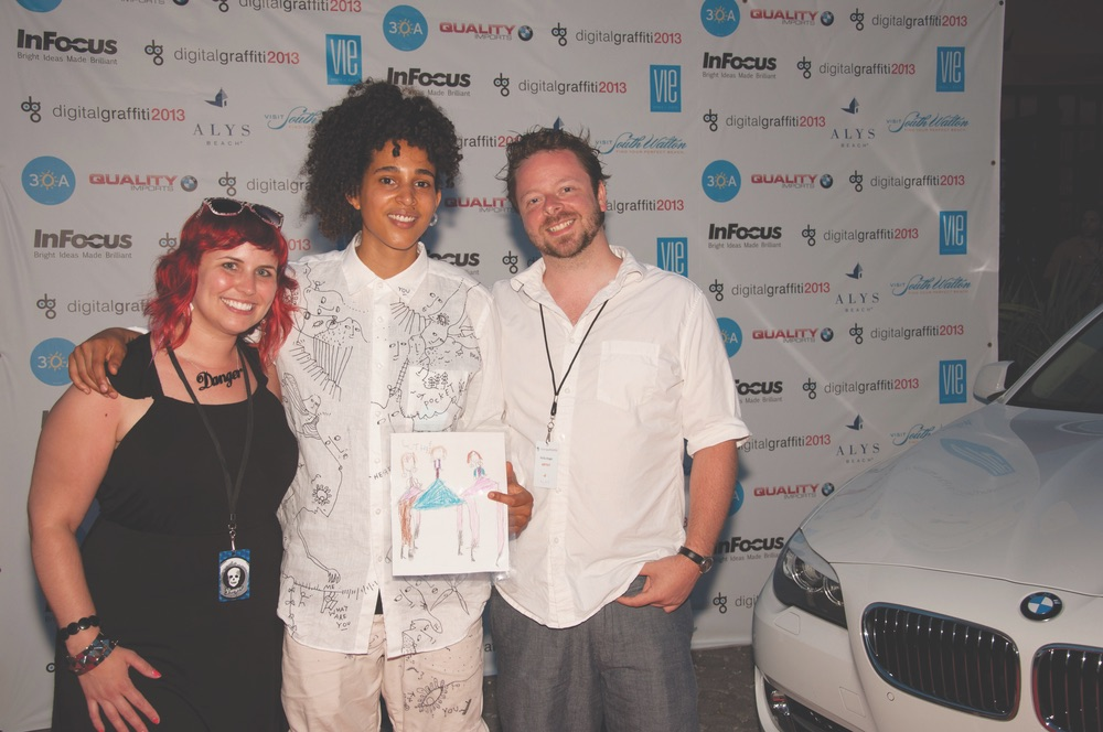 DG Artists Holly Danger and Shantell Martin with Jeff Schram