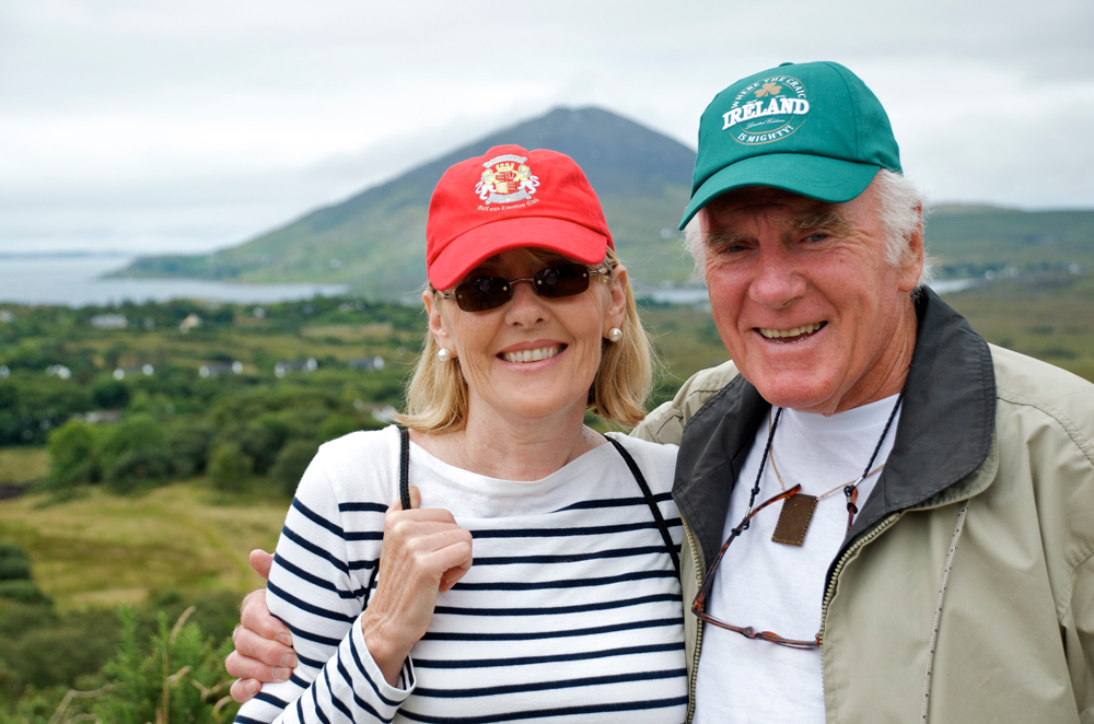 Lisa with her father, John Ryan, in Letterfrack, Ireland, in the summer of 2012.
