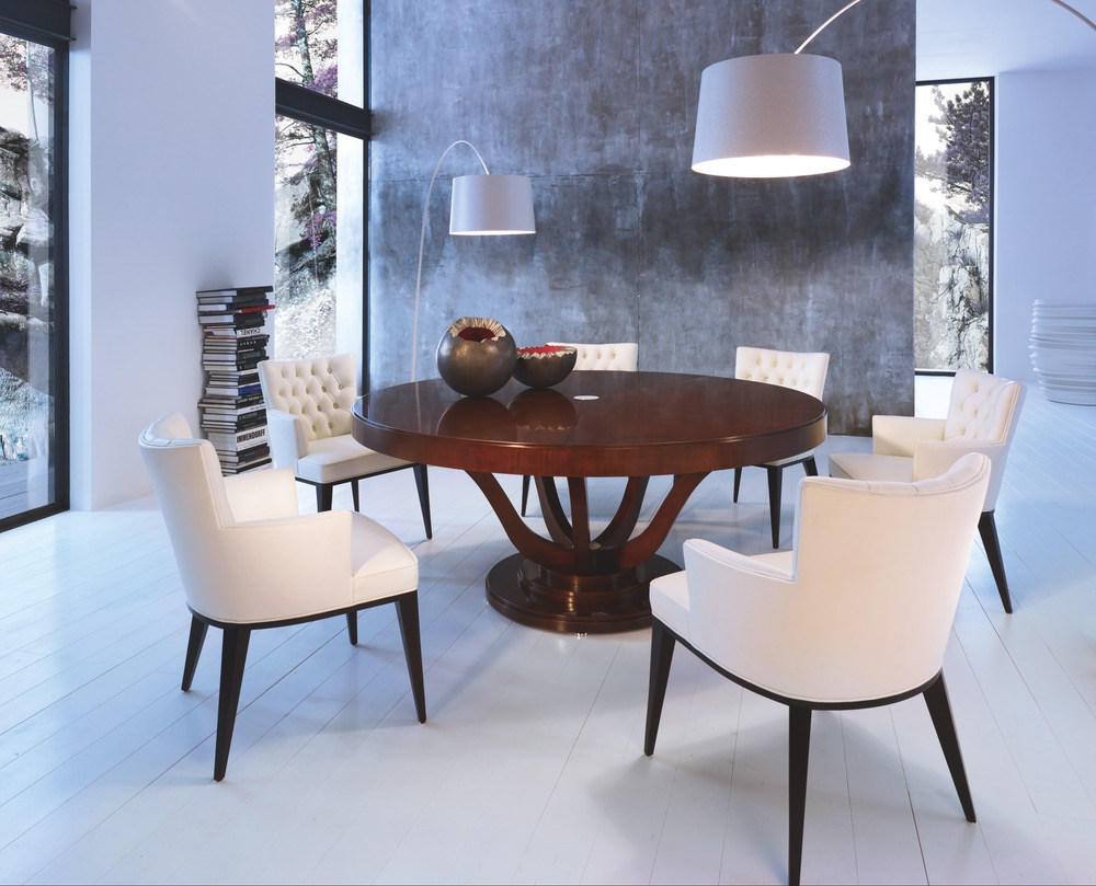 SELVA Table VICTORIA Design Tiziano Bistaffa + Chair DOLLY design Peggy Norris White