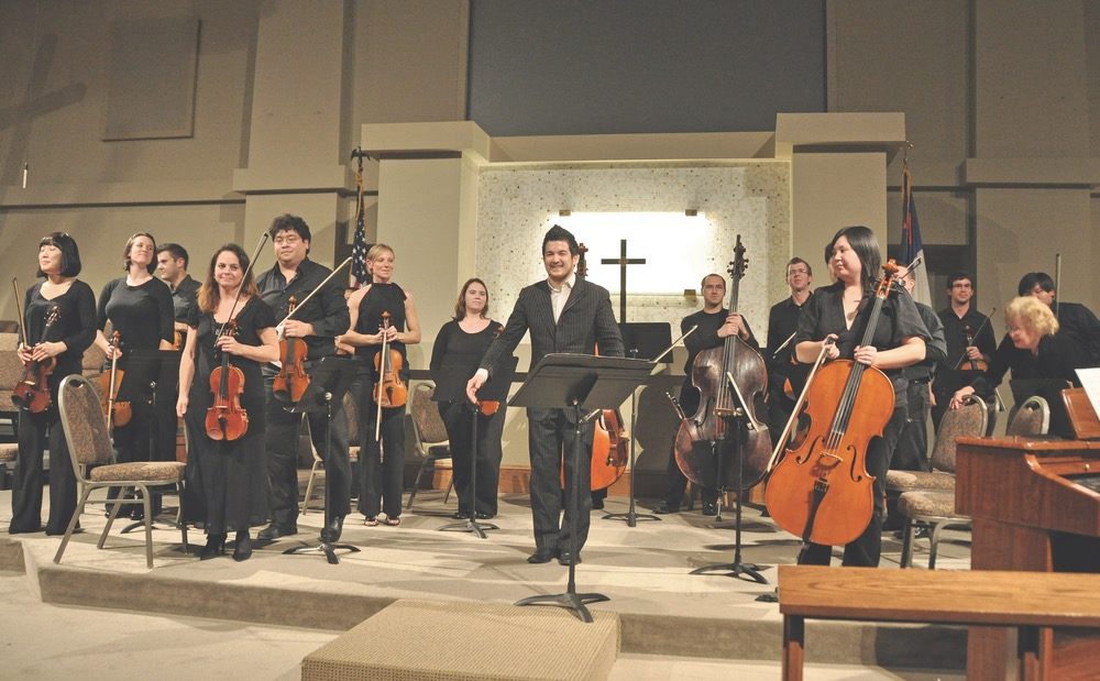 Orchestra after performance