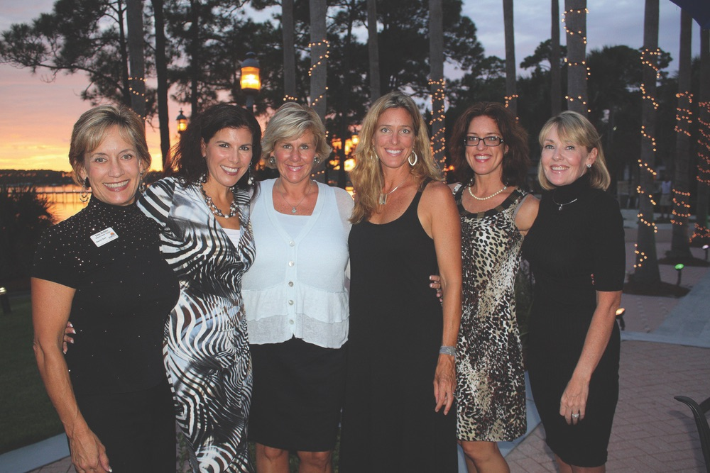 Second Annual Women's Work-Life Symposium, Karen Blackerby, Laurie Olshefski, Beth Oltman, Liz Bennett, Marta Rose and Lisa Burwell.  2011 Women's Symposium Kick-Off VIP Party sponsored by Cornerstone Marketing.