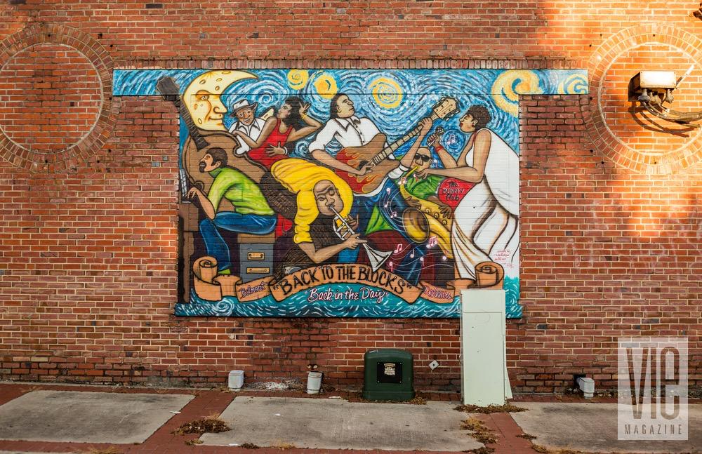 blues wall mural artwork pensacola