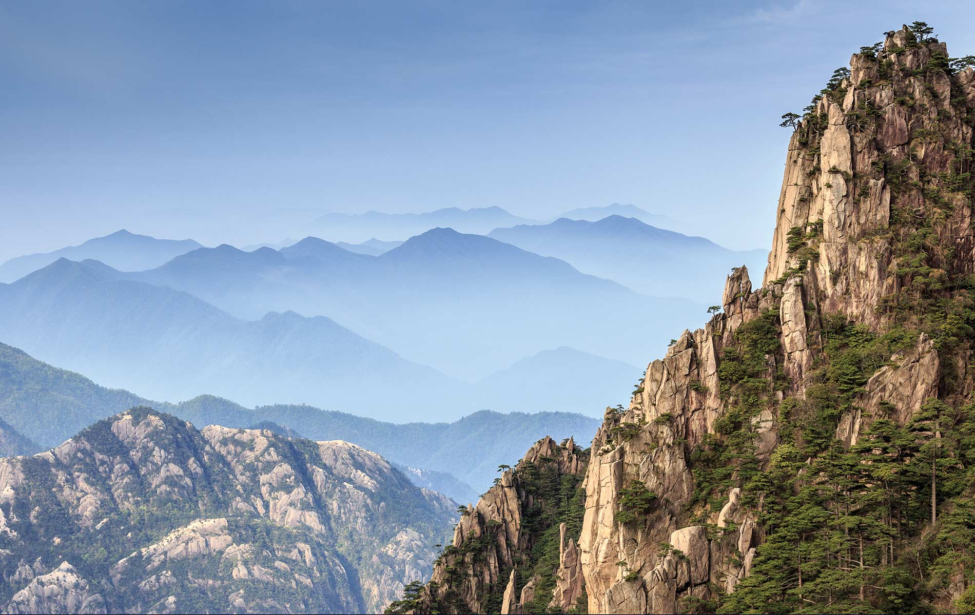 Huangshan Mountains Postcards from china cover image