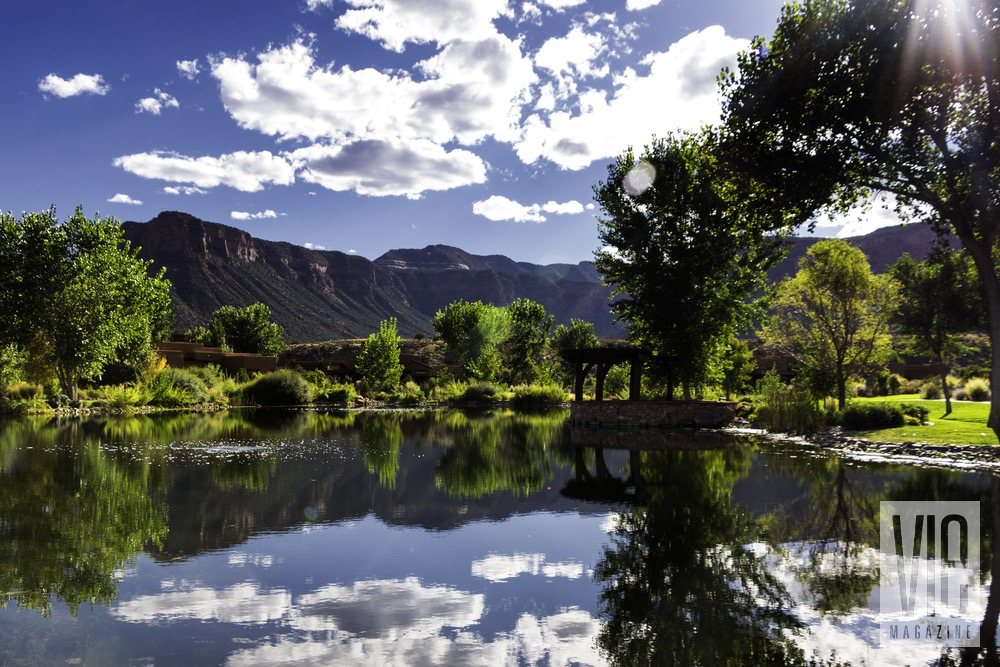 A Scenic View Of Greens and The Lake At Gateway Canyons Resort