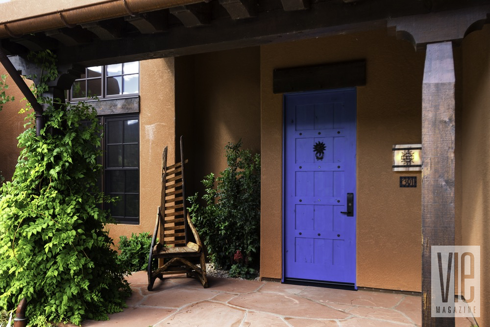 Blue Door to Hotel Room At The Gateway Canyons Resort And Spa