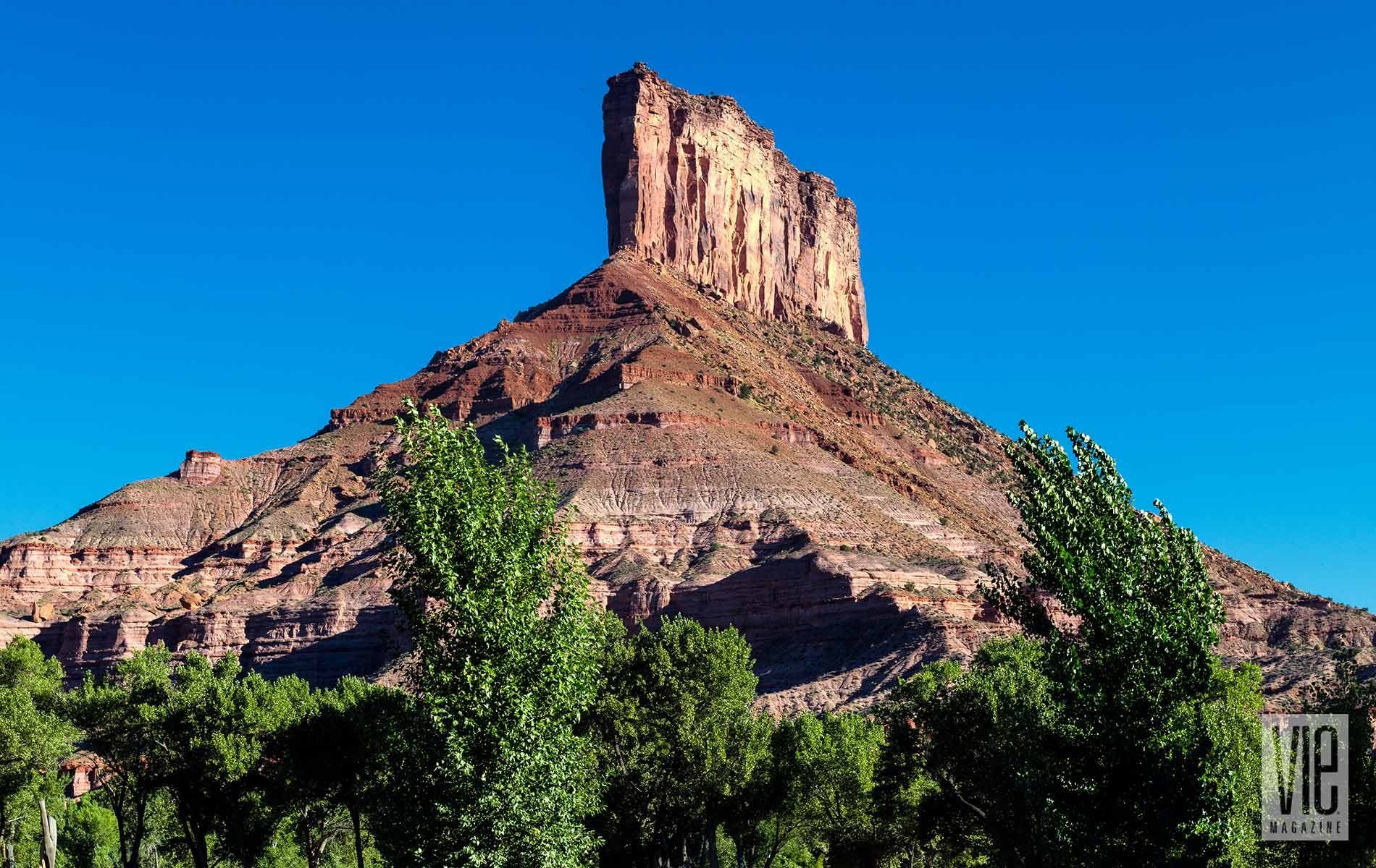 A Beautiful Head On View Of The Gateway Canyons