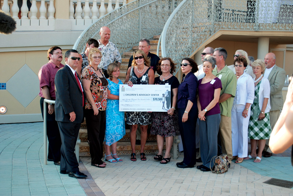 Staff of ECCAC charity begins at home children's advocacy center