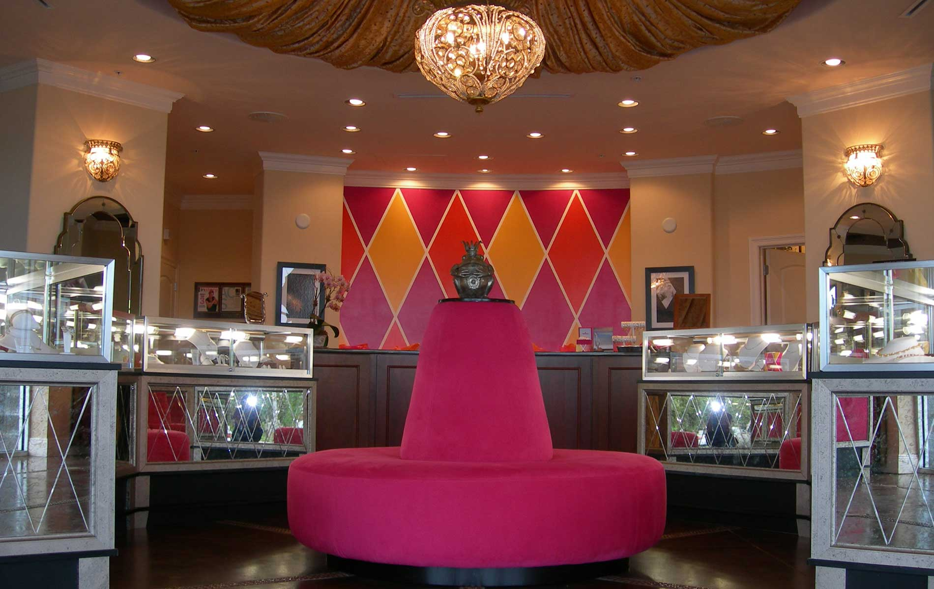 Destin Jewelers interior design by Gerald Burwell