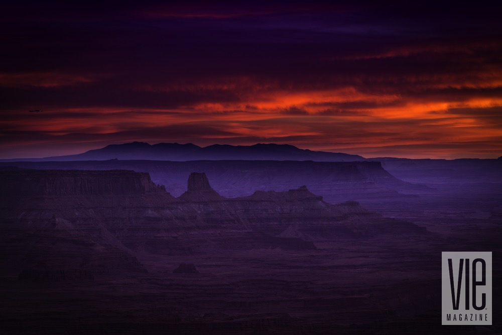 Sunset over open Canyon