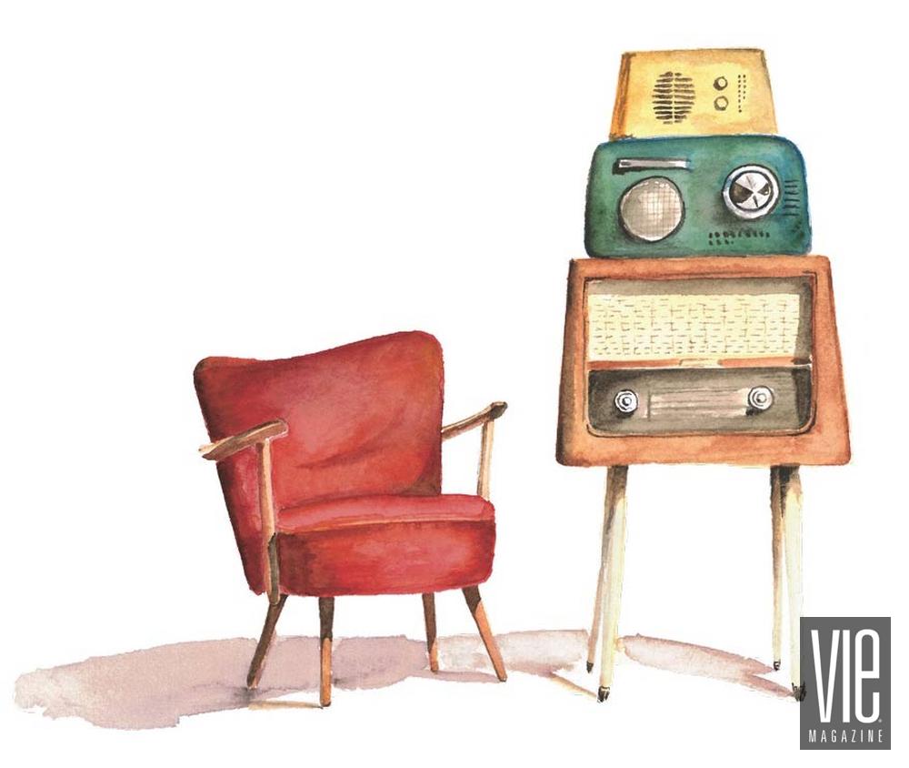 vie magazine radio junkie illustration