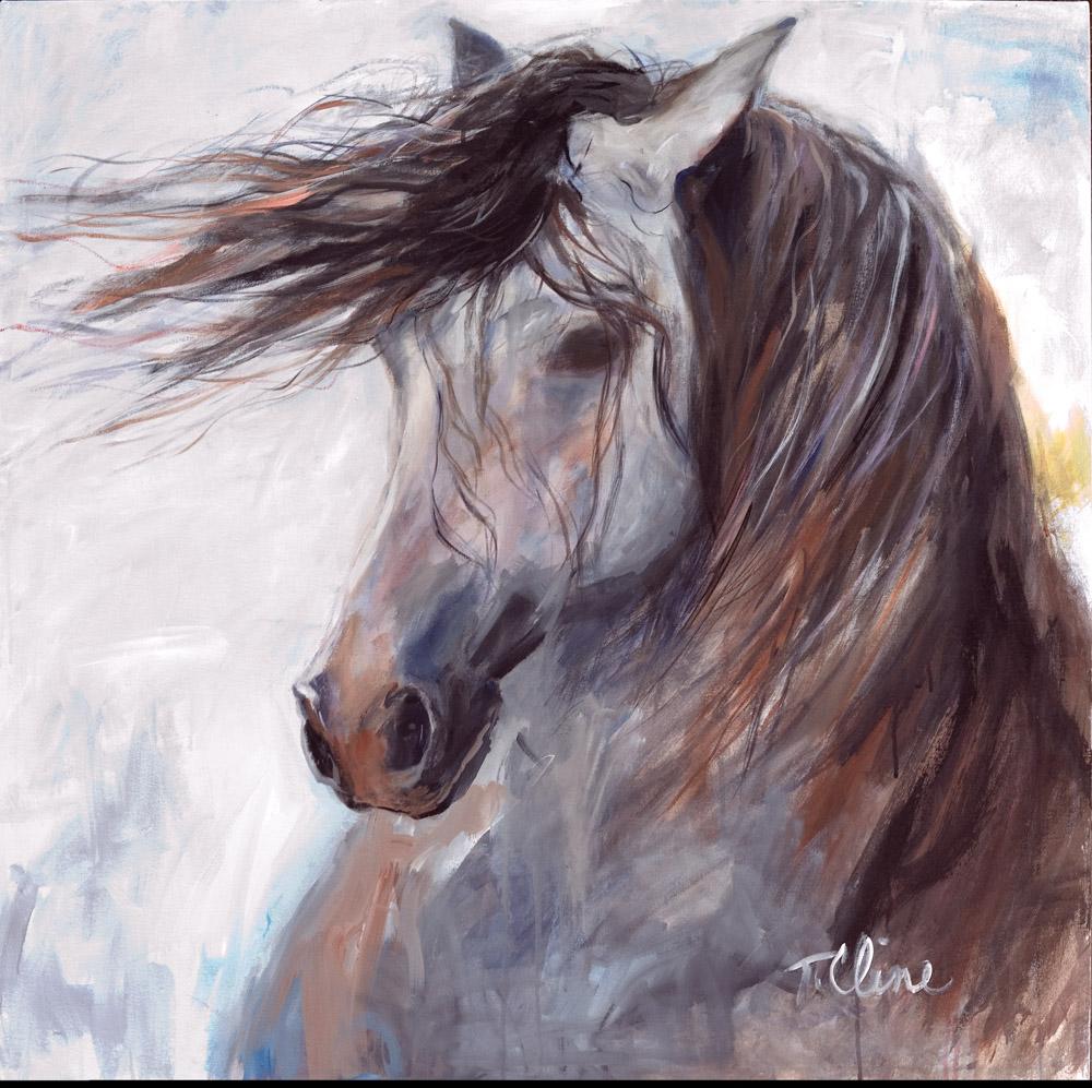vie magazine horse teresa cline painting art