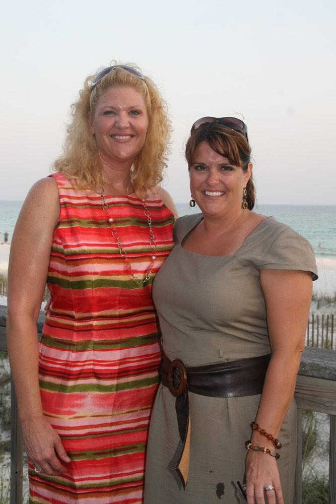 Loretta Shaffer and Dawn Moliterno at the anniversary celebration vie magazine hilton sandestin