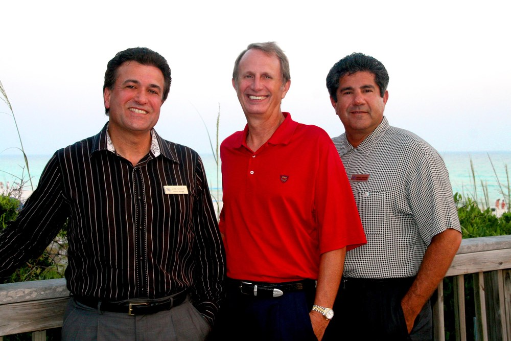 Mike Chouri, Robert Kamm, and Marshall Thompson vie magazine hilton sandestin beach