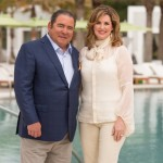 Emeril and Alden Lagasse at beautiful Caliza Pool in Alys Beach, Florida. Photo by Romona Robbins
