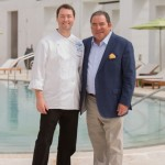 Caliza's Executive Chef Kevin Korman with Chef Emeril Lagasse. Photo by Romona Robbins