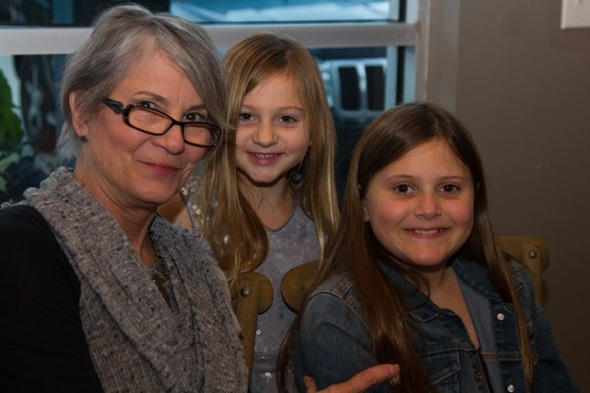 Photographer and artist Marscha Cavaliere with her granddaughters, Laine and Laurel Rockhill
