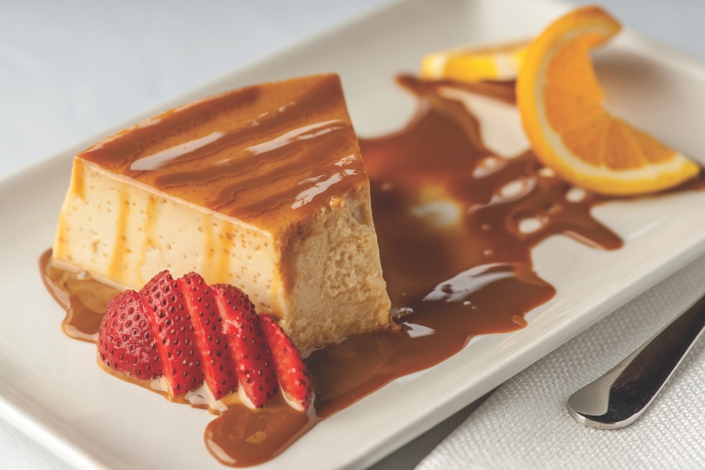 Delicious Creamy Flan Drizzled With Caramel By Cantina Laredo